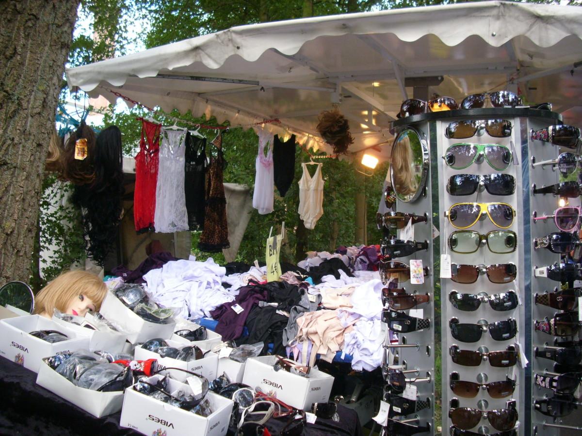 Flea  Market at the Rhine Promenade