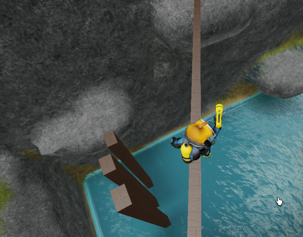 Parkour time! If you fall off you can swim back to the start.