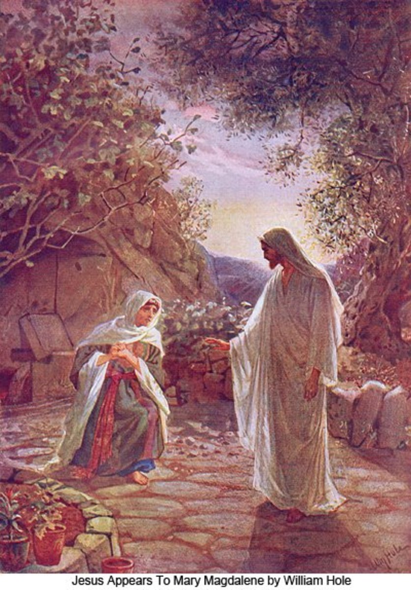 Jesus appears to Mary - painting by William Hole