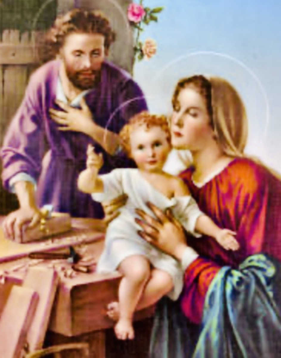 A Spontaneous Gathering of the Holy Family and the Value of Work