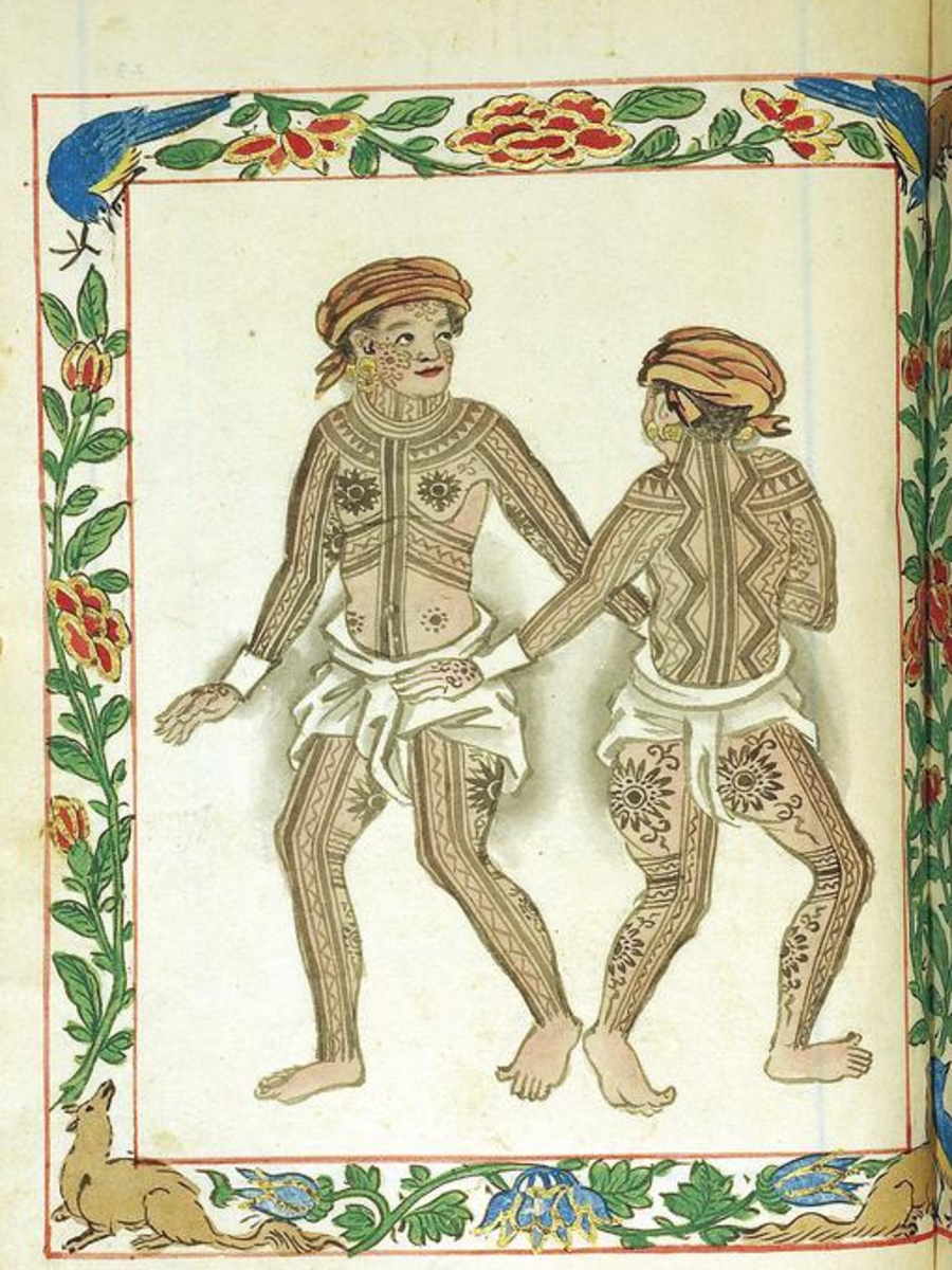 The Visayans, as illustrated in the Boxer Codex.