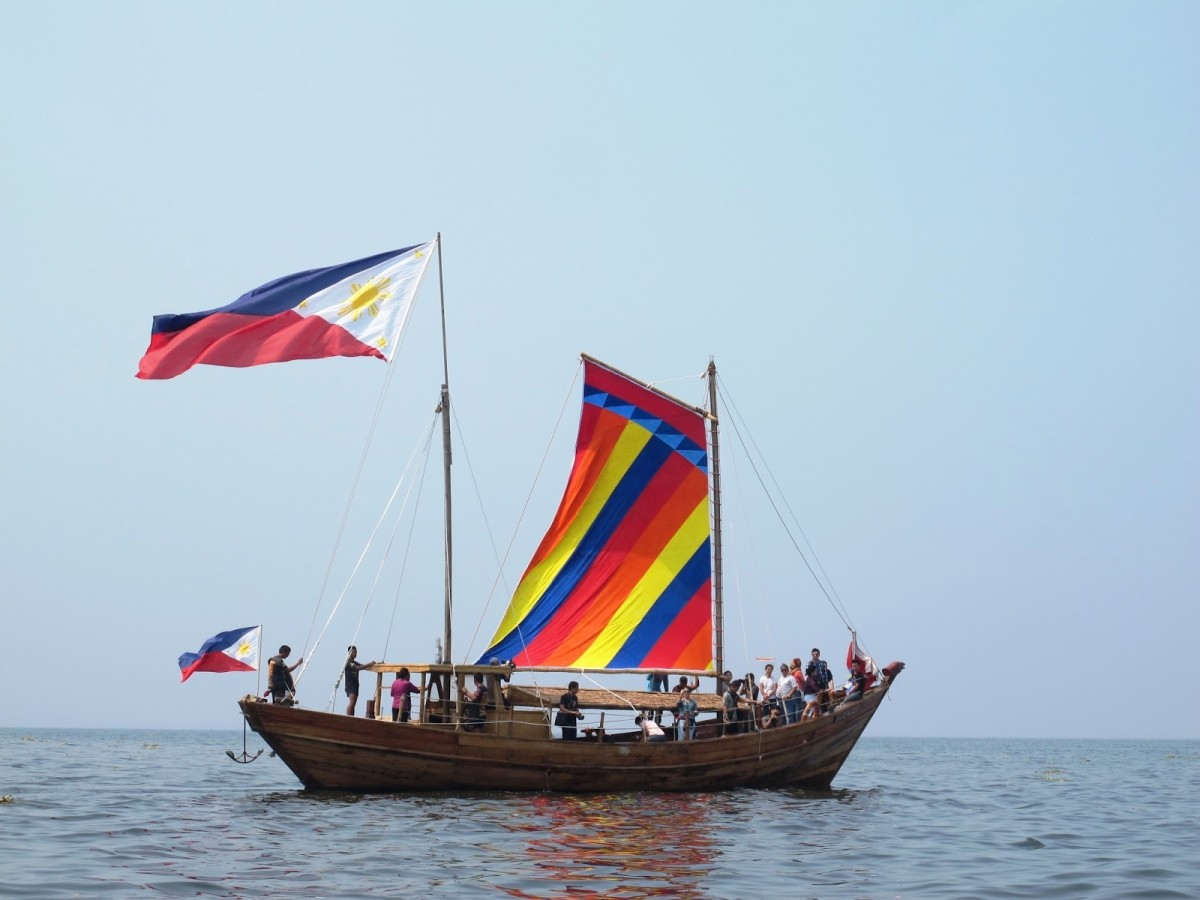 A reconstruction of the Balangay.