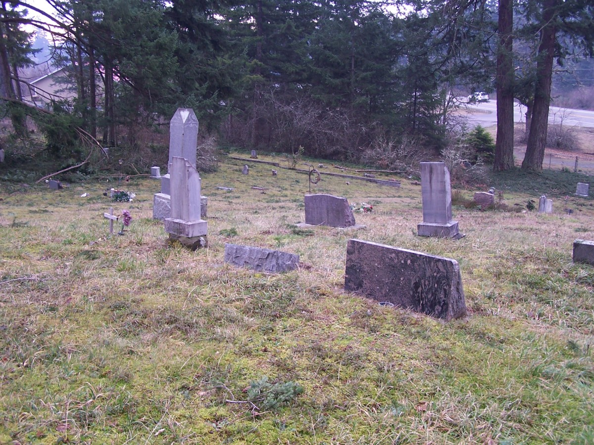 Exploring an old graveyard.