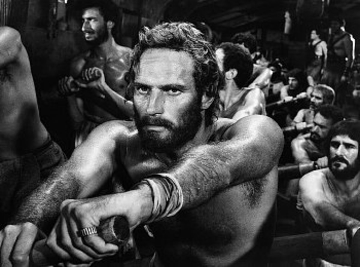 Scene from Ben Hur film from 1959 with Charlton Heston as main character. In this  article the book by Lew Wallace is appreciated as slightly better and more realistic than movie.