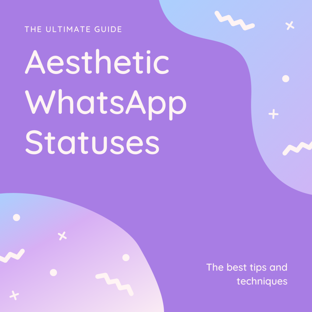 In this guide, we'll be taking a look at aesthetic WhatsApp statuses!