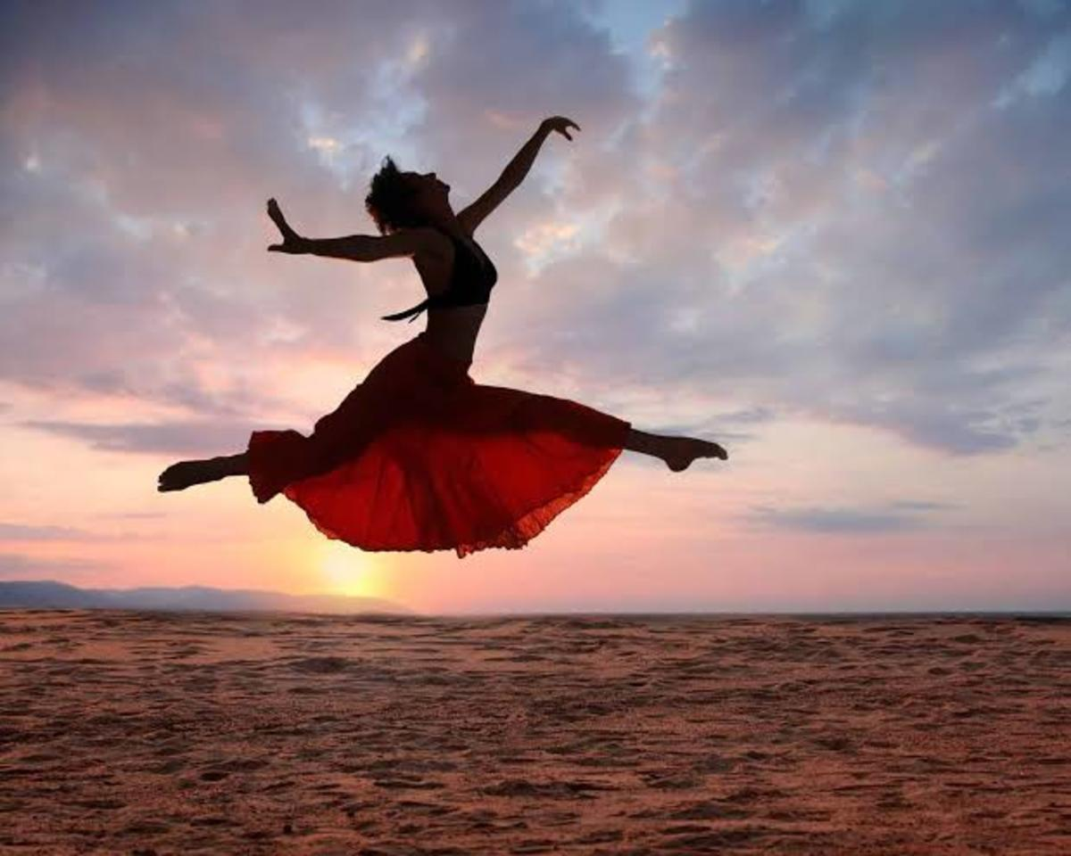When She Felt Free and Got up to Dance.