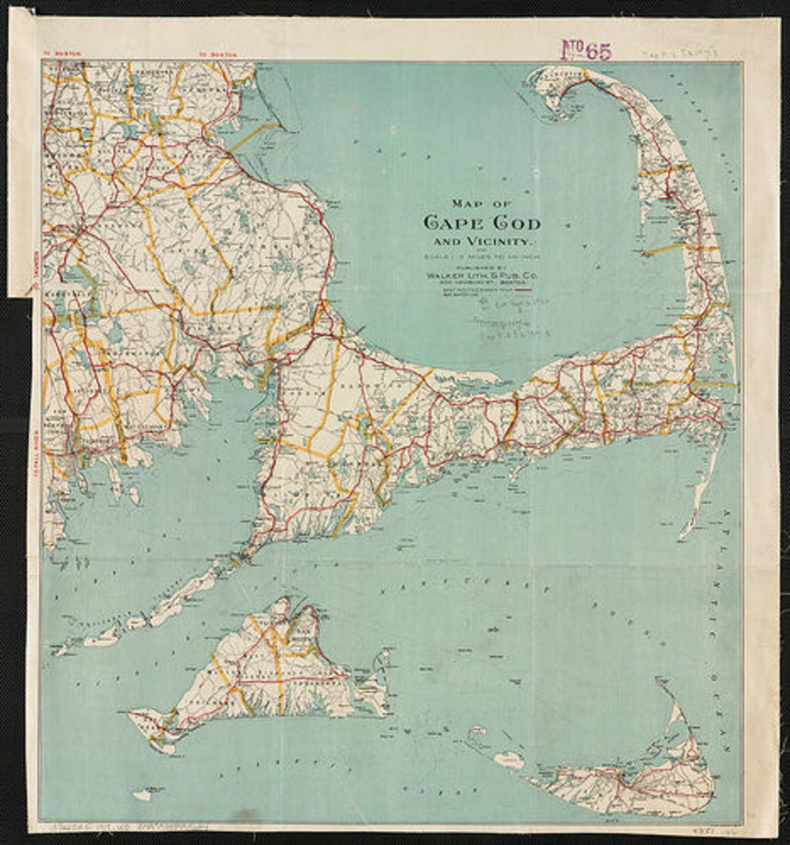 A vintage map of Cape Cod, photo by Norman B. Leventhal Map Center on flickr.