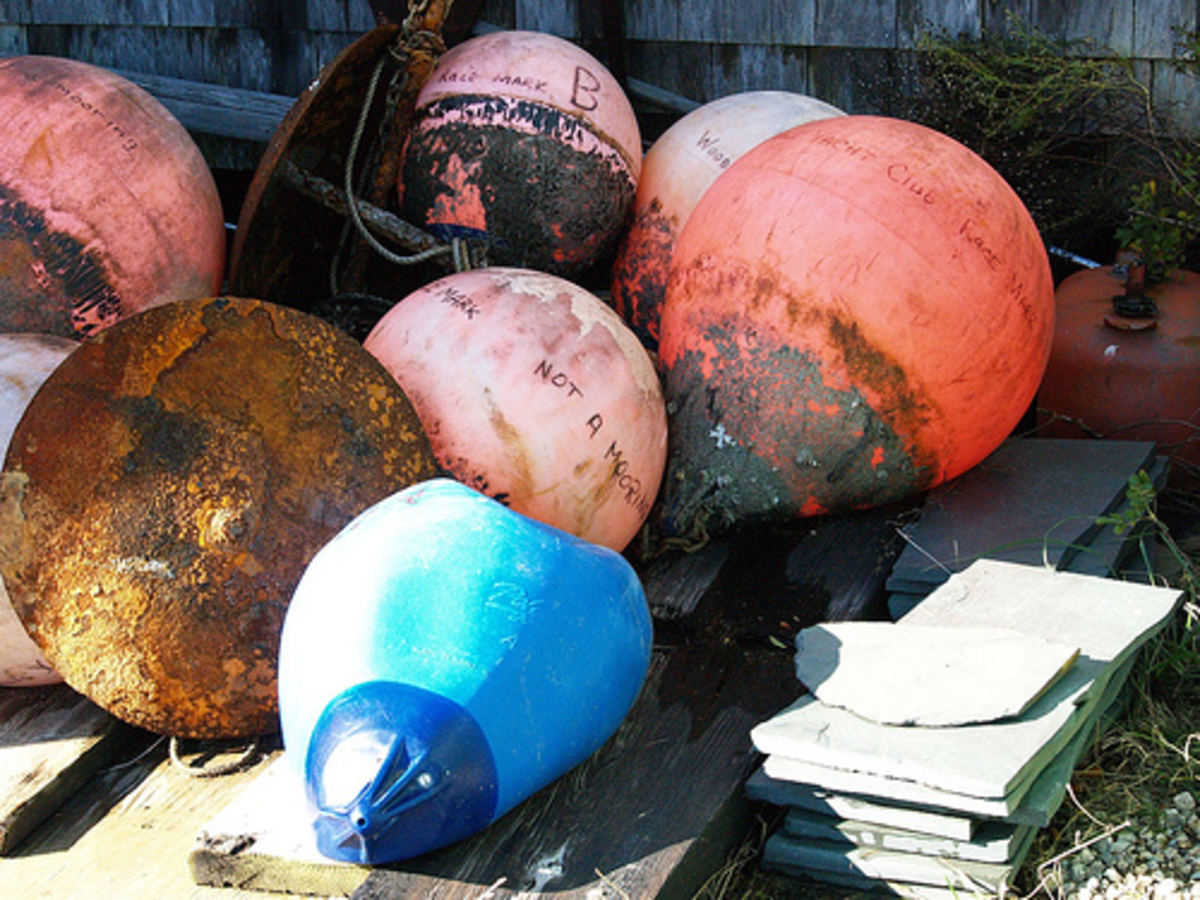 Wood's Hole, Massachusetts. Buoys and anchors. Photo by takomabibelot on flickr, licensed under Creative Commons 2.0.