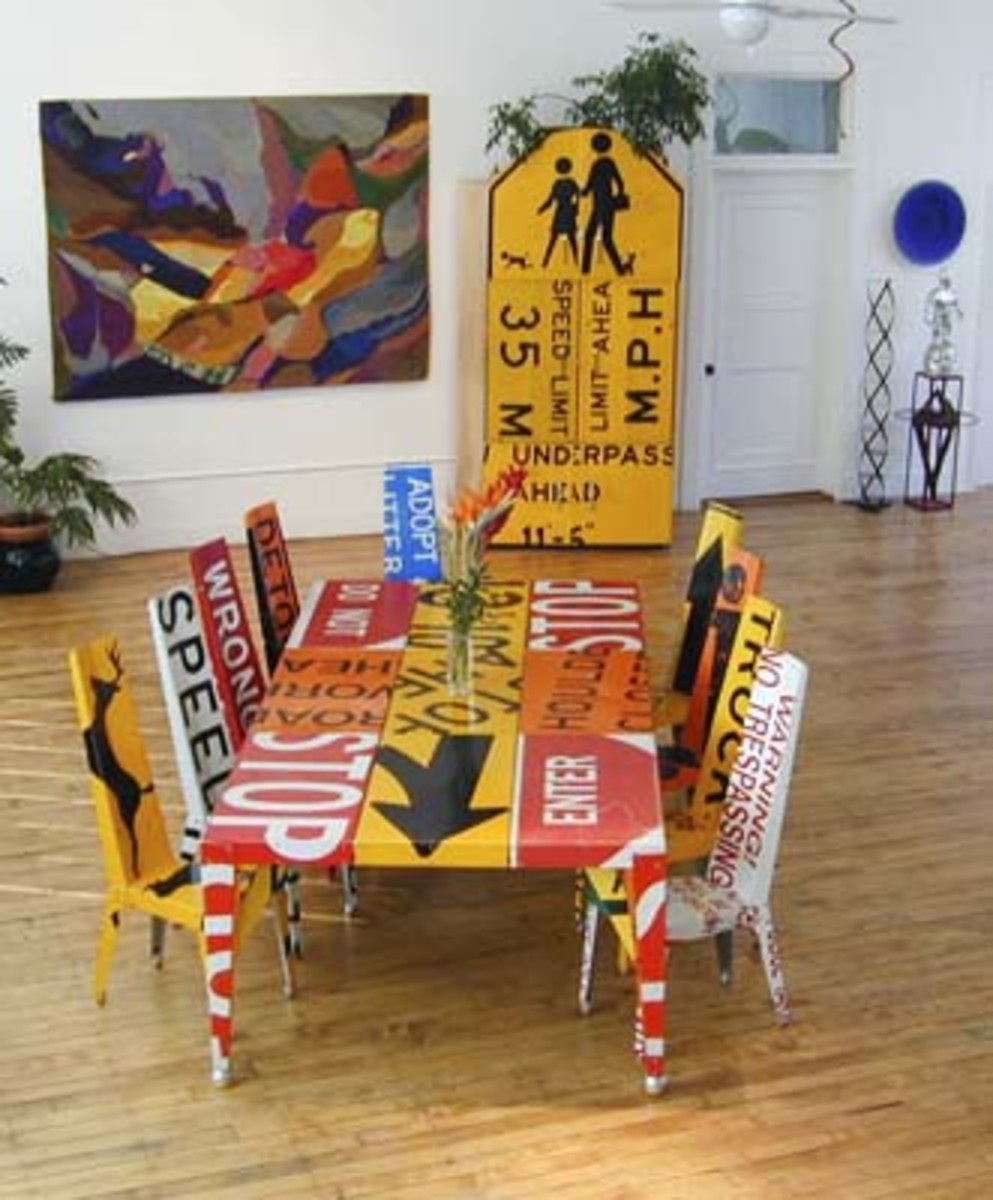 Repurposing Road Signs Into Functional Furniture with An Artistic Flair