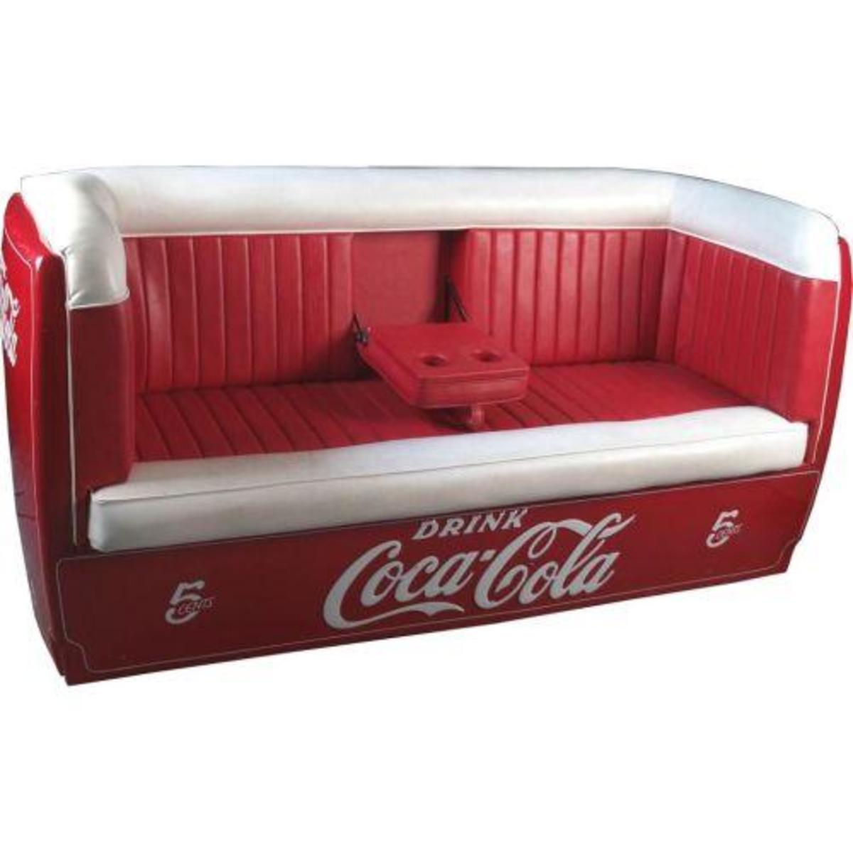 Coca Cola Couch - Crafted from a Coca Cola Cooler