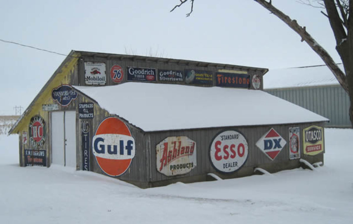 Chicken Coop with Vintage Advertising Signs