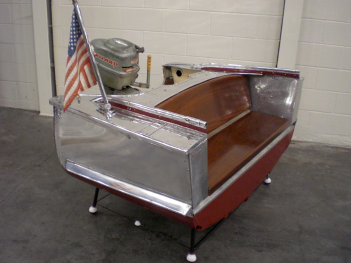 Crestliner Boat Like Couch - Crafted from Actual Boat Parts