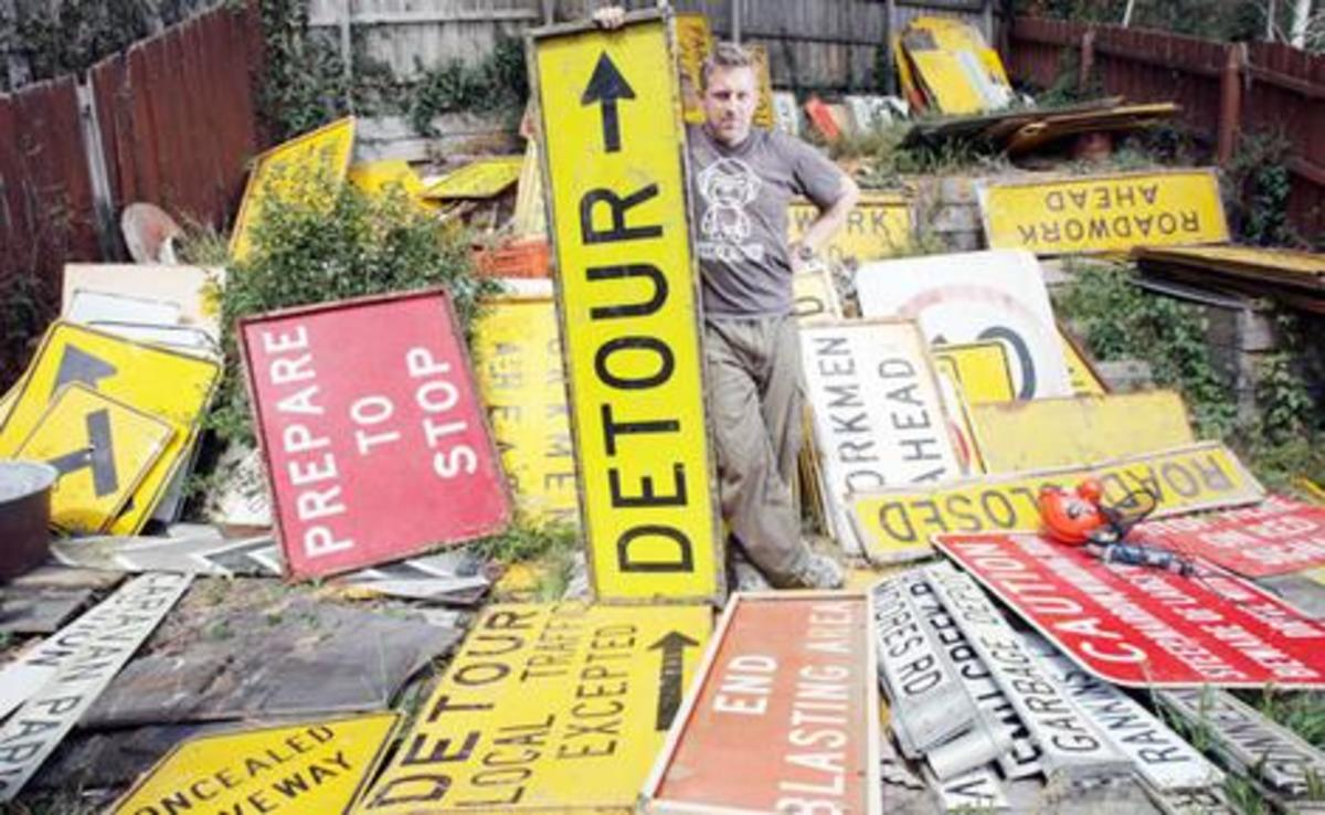 automobilia - road signs as art
