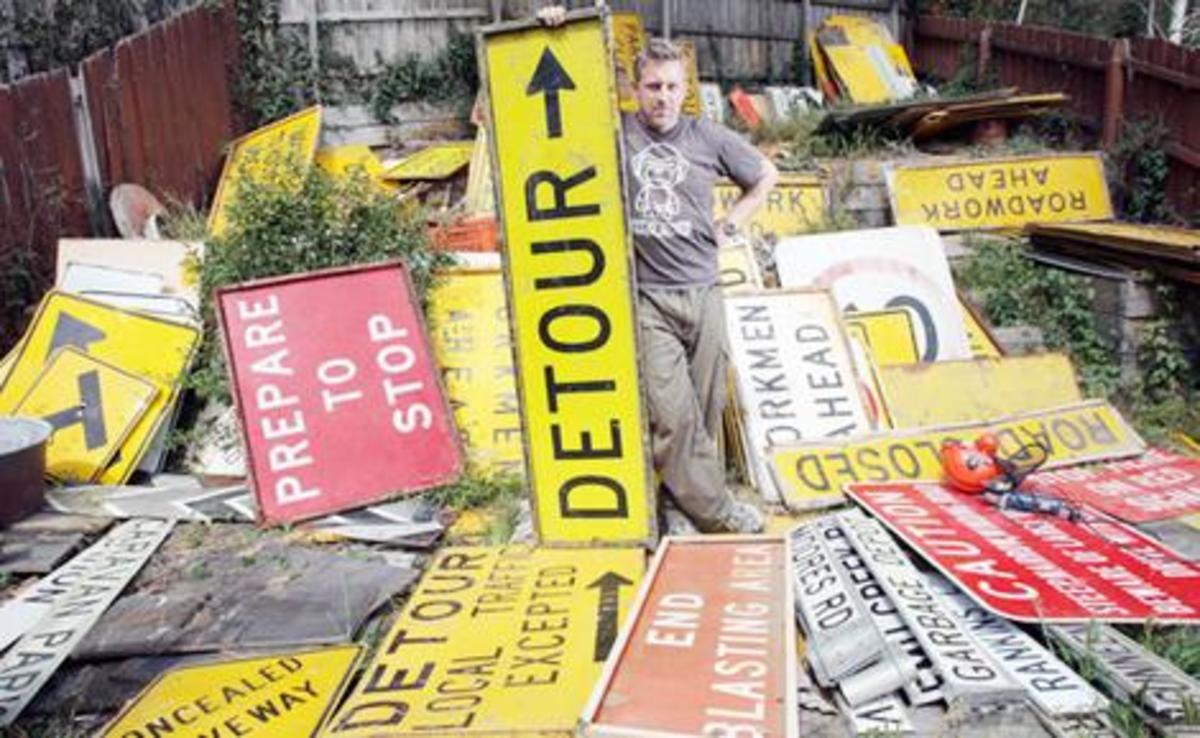 automobilia - road signs as art