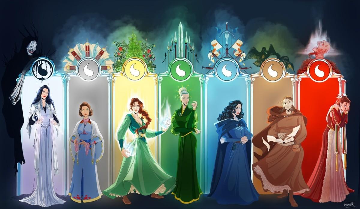 The seven true Aes Sedai Ajahs