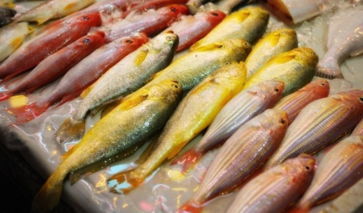 Mislabeling fish by substituting a cheaper fish for a more expensive fish is common with counterfeiting food.