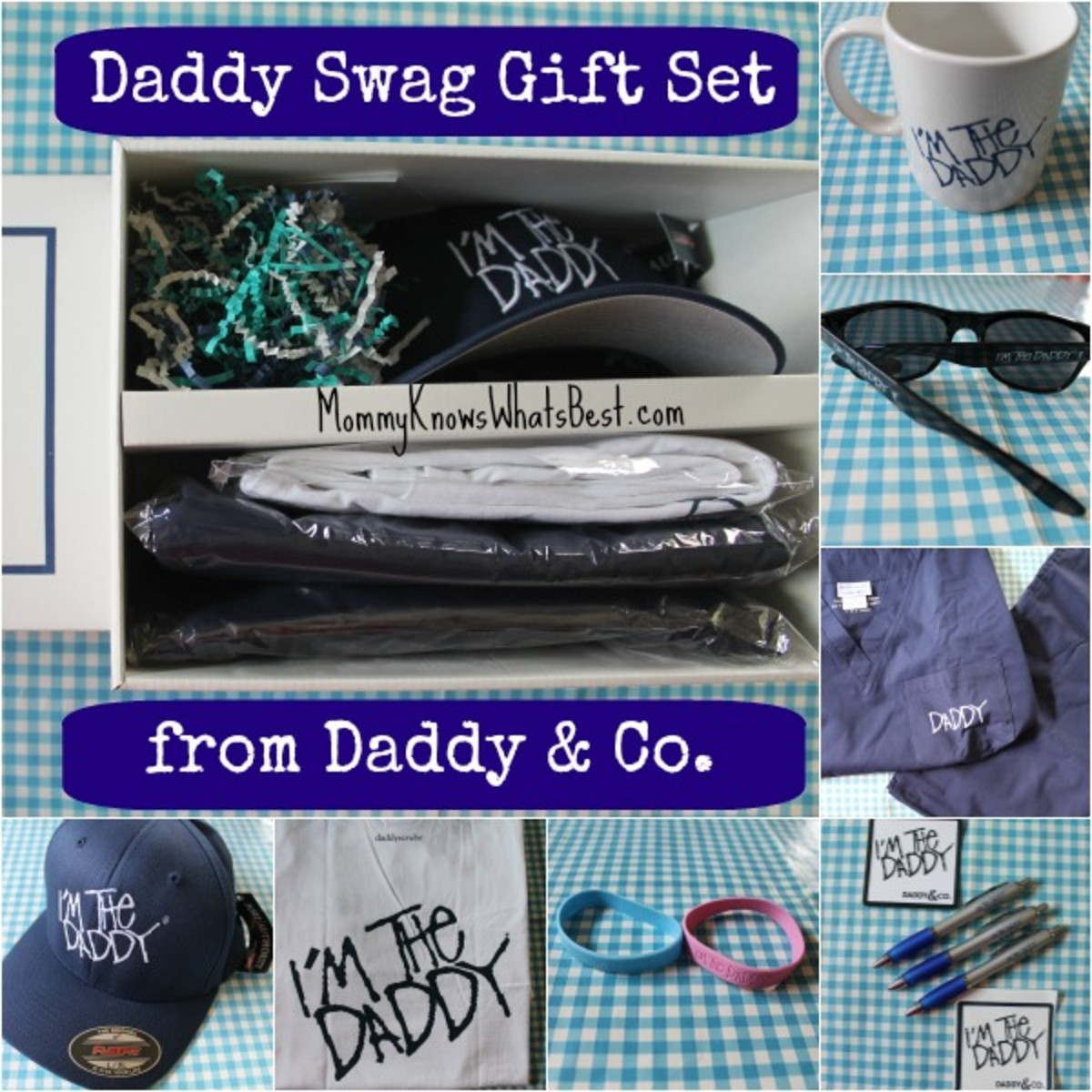 The Daddy Swag Gift Set from Daddy & Co. as featured on Mommy Knows What's Best.