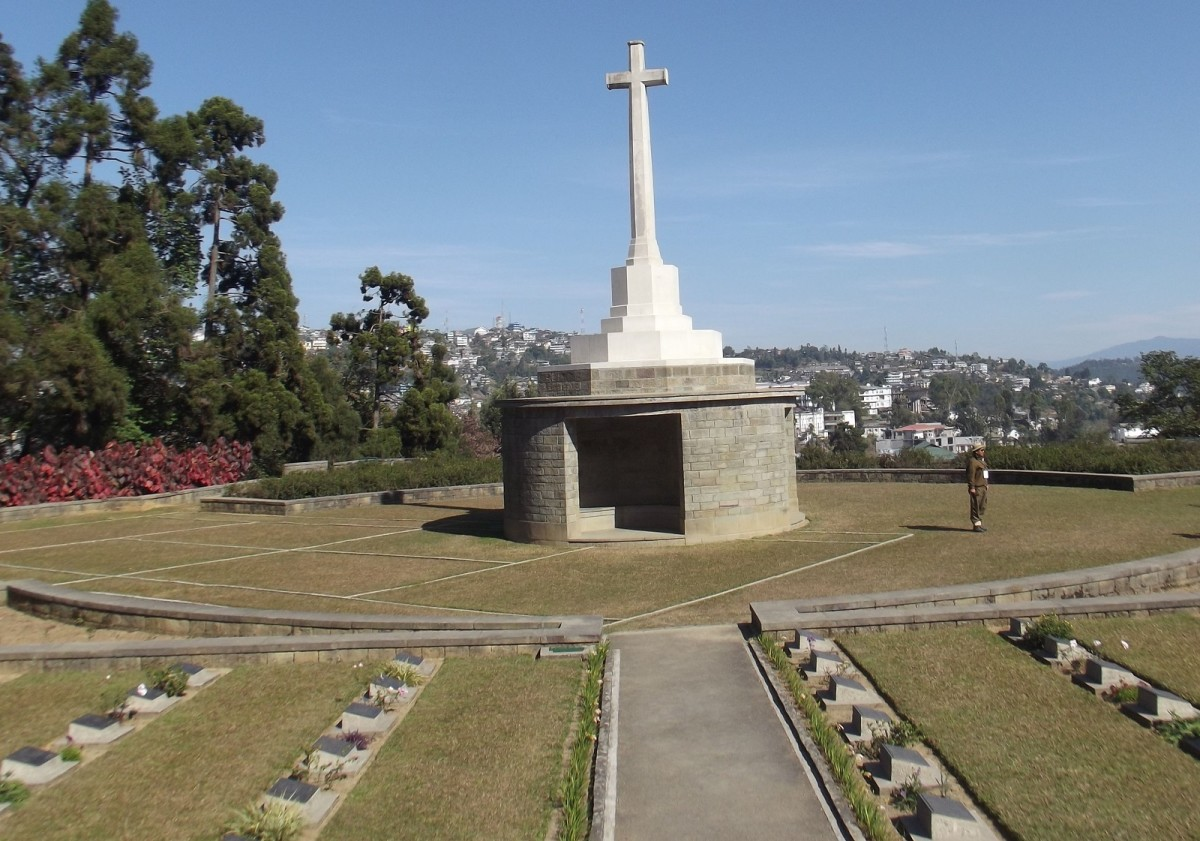 Kohima War Cemetery is a memorial dedicated to soldiers of the 2nd British Division of the Allied Forces who died in the Second World War at Kohima, the capital of Nagaland, India, in April 1944.