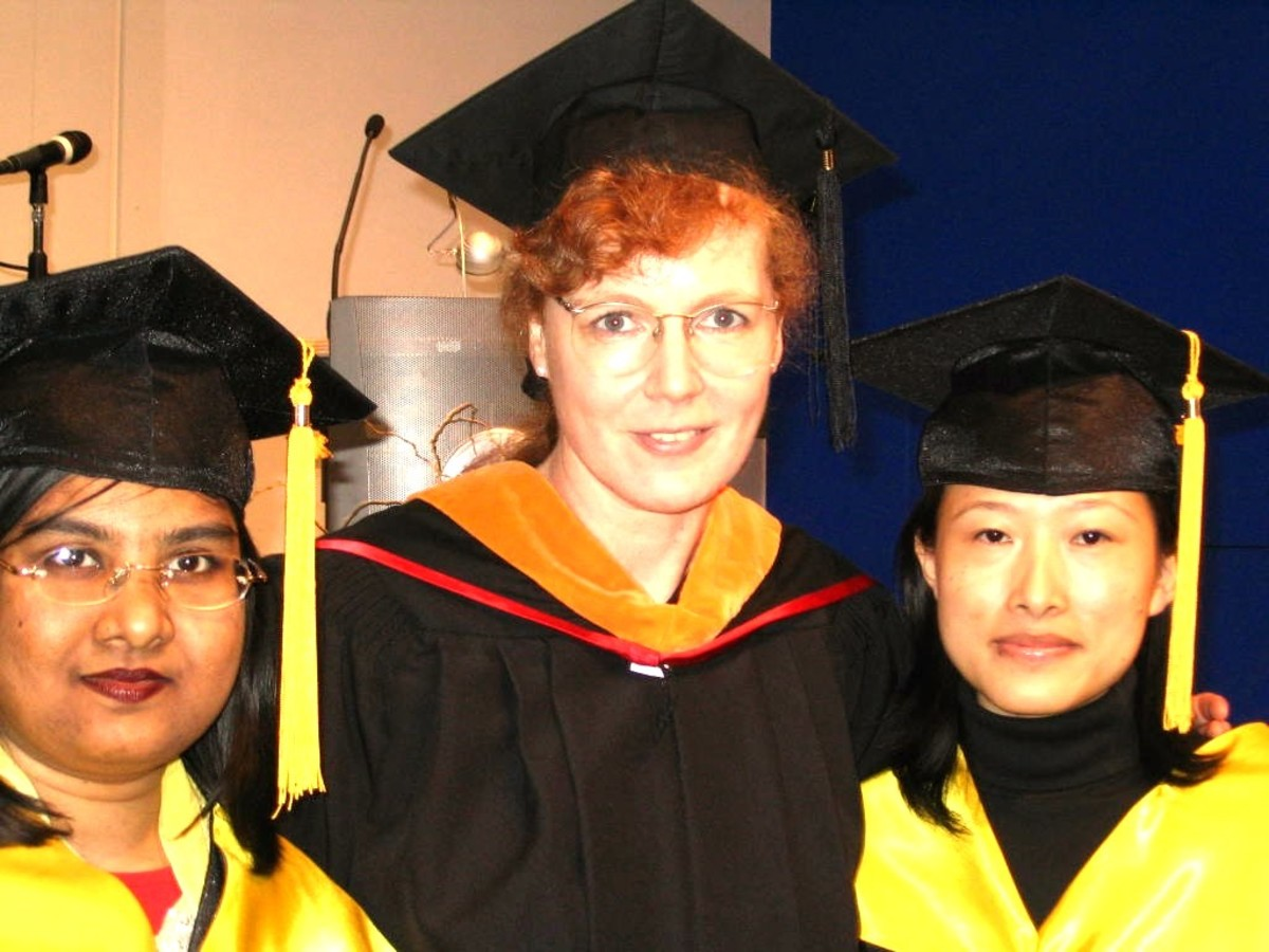 Pic: Myself, Thesis Supervisor: Professor Dorothee Koch, and My Best Friend: Haiying (Helen)