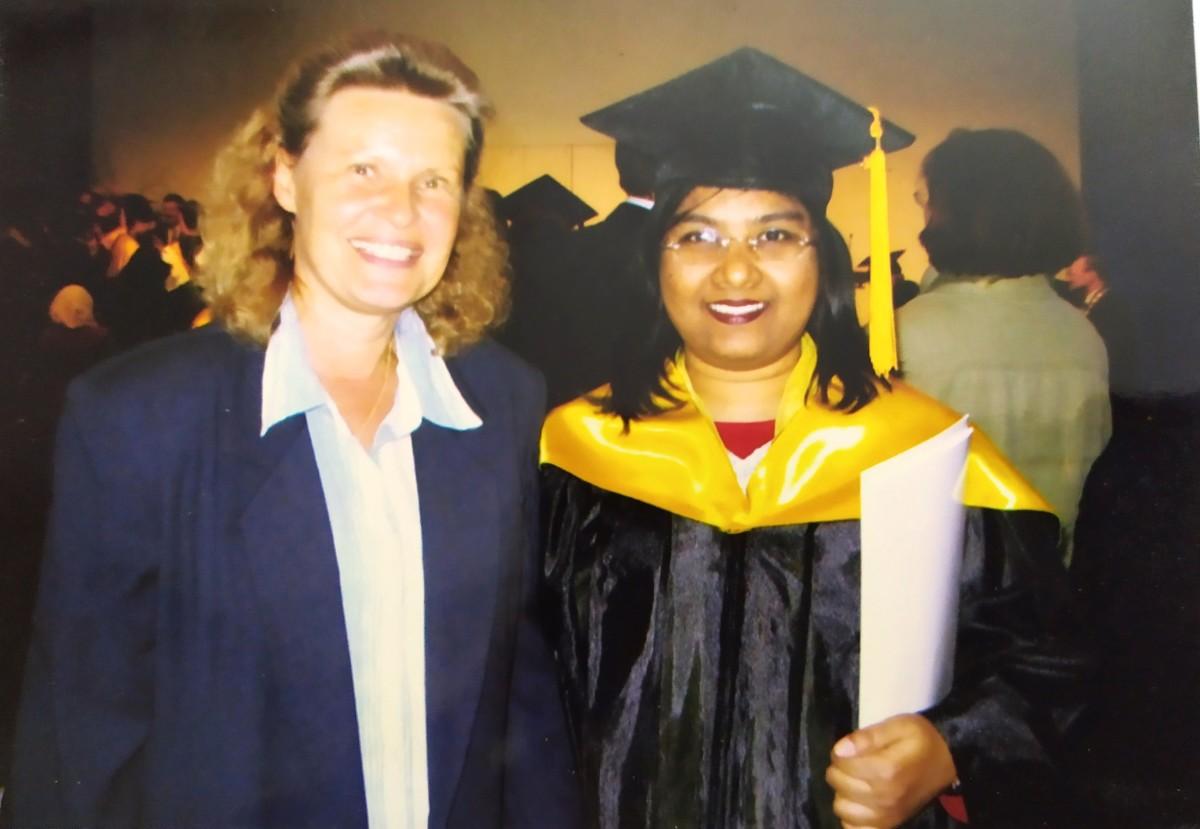 Pic: Professor Kreitmeier and Myself at the Graduation Ceremony