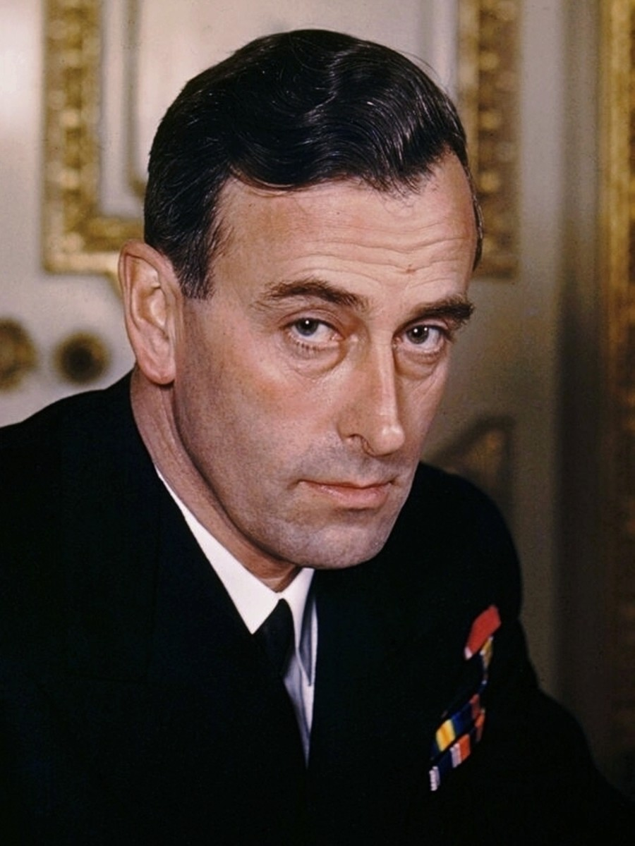 Admiral Lord Louis Mountbatten (Dickie) as First Sea Lord, 1943.