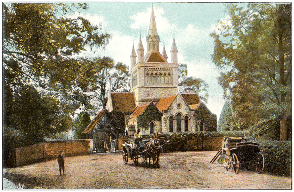 Louis and Victoria Milford Haven were laid to rest at St. Mildred's Church on the Isle of Wight, near Osborne House. Picture from 1910.