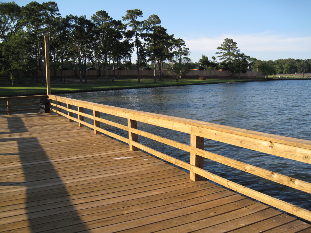 "Pier at Waterfront Lodge & Marina, Onalaska, Texas-Lake Livingston. ""Pardon me, whilst I try and catch me some Catfish!"""