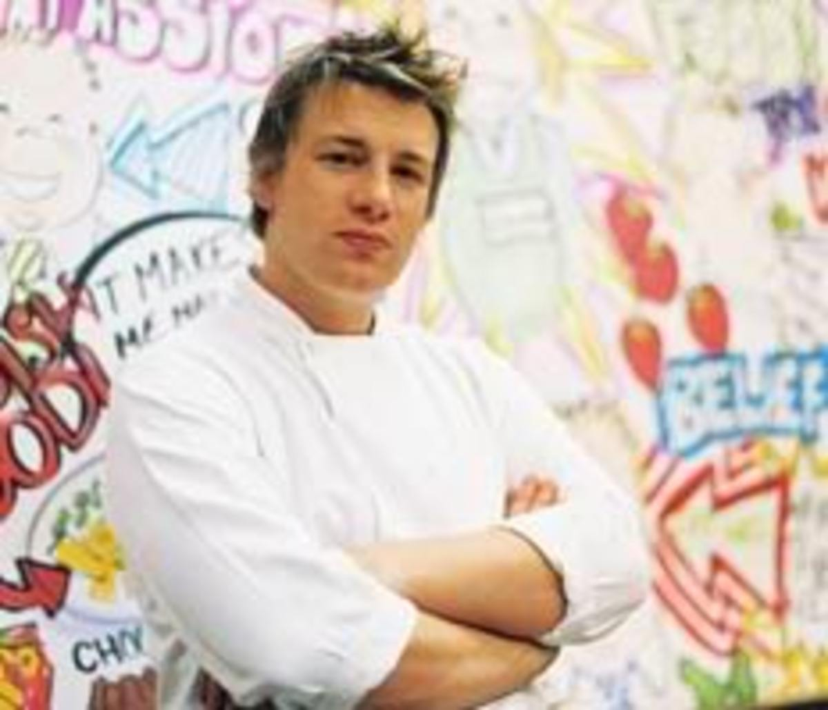 Jamie Oliver, chef, restaurateur, author, and campaigner for more healthful foods in our schools.