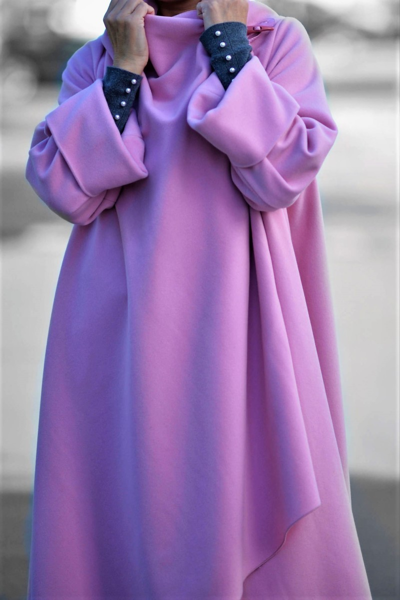 This lavender coat looks great on women of all shapes & all colorings.