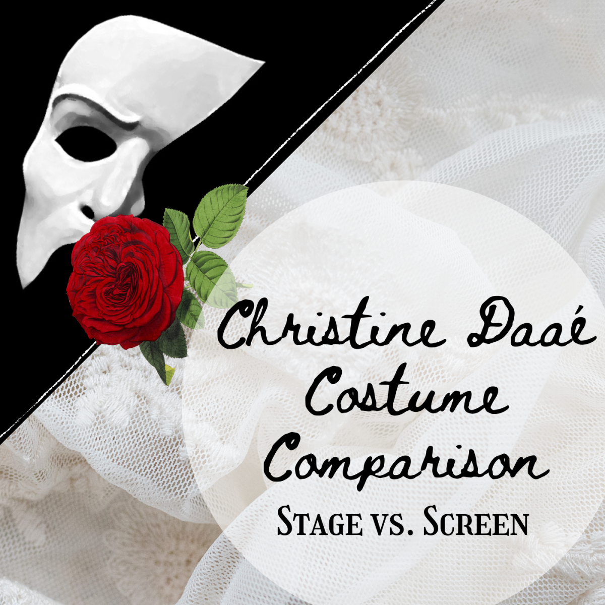 Compare Christine's costumes in the musical and the 2004 movie, and decide which outfits are better.
