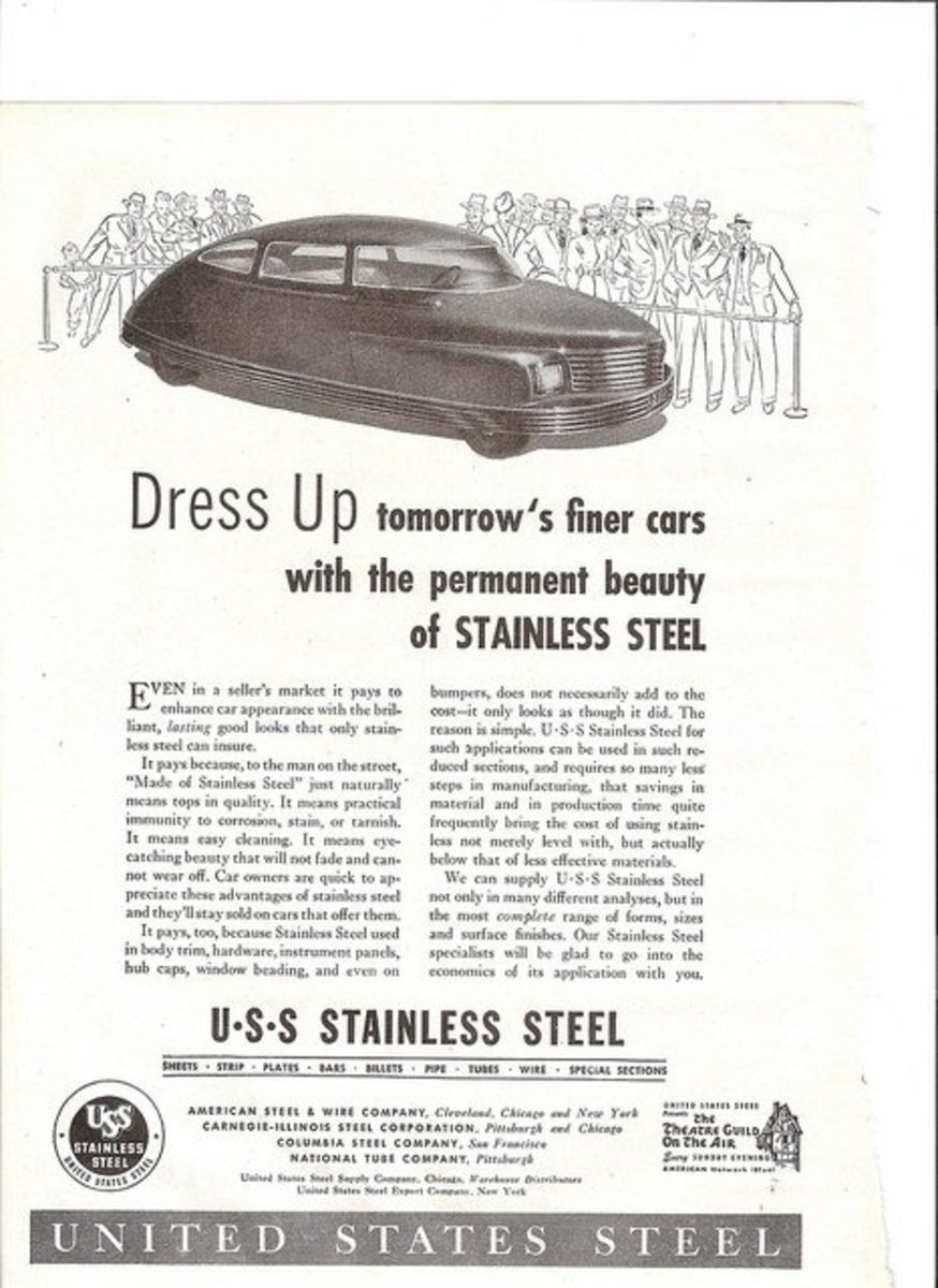 Magazine advert for U. S. Steel; Automotive Industries magazine. 1942. American steel is coming back.