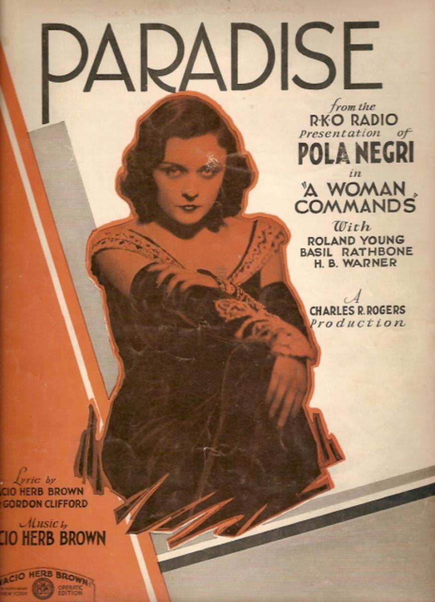 Pola Negri Music sheet