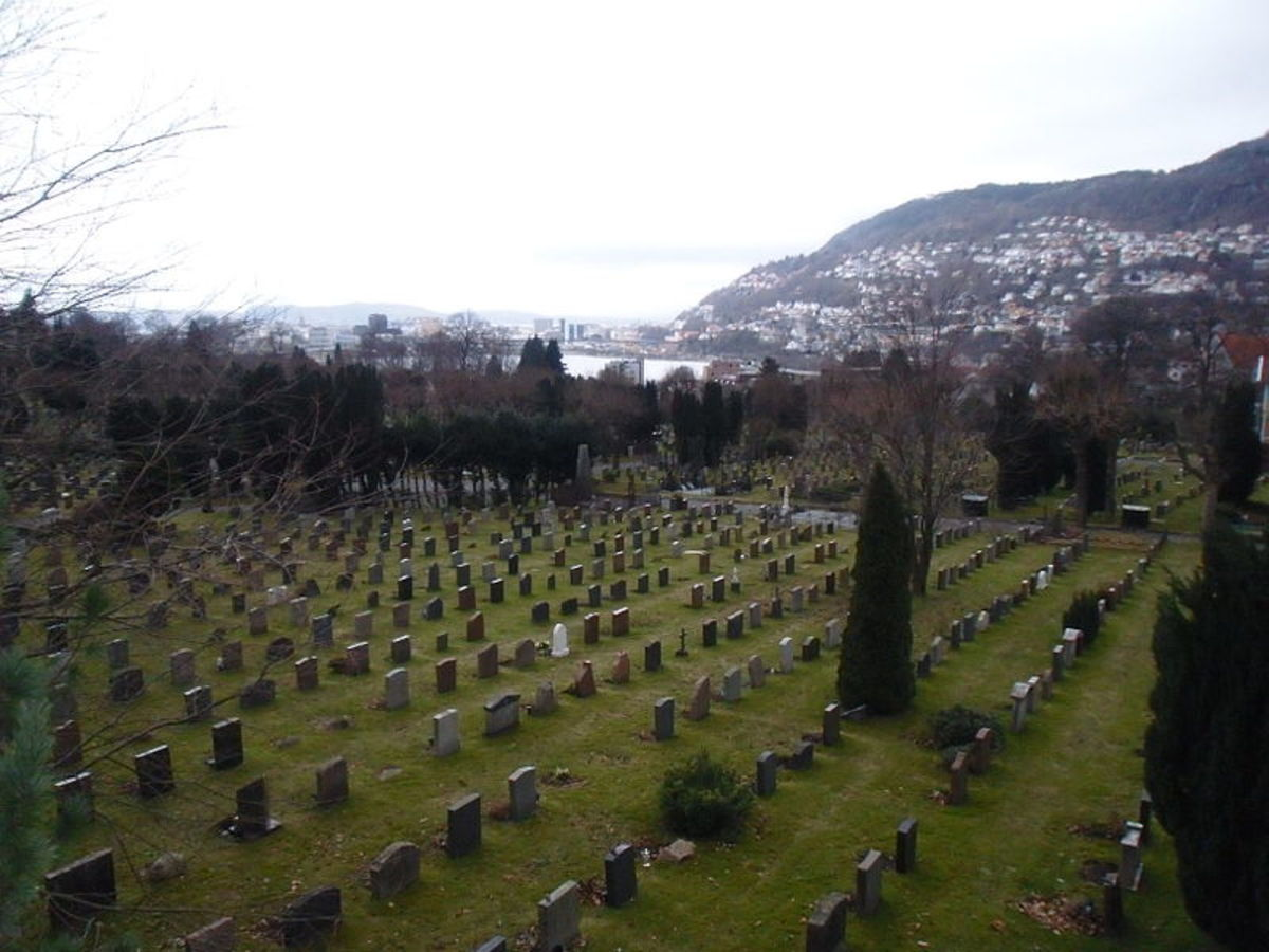 Møllendal cemetery in Bergen, Norway; the final resting place of the Isdal woman unless family comes forward to claim the body.