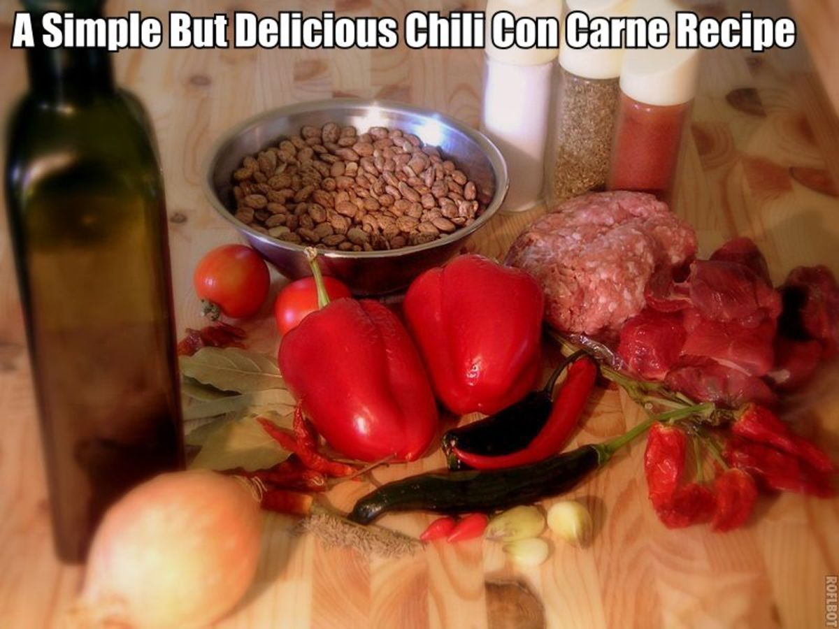 If your looking for a simple but delicious Chili Con Carne Recipe then ...