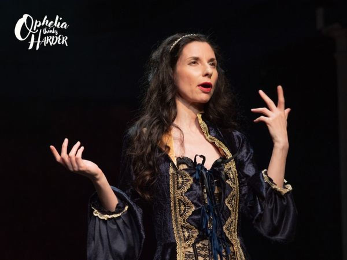 Ophelia Thinks Harder - A comedy by Jean Betts/William Shakespeare. Image by David Ovenden. Sedos 2021 All rights reserved.