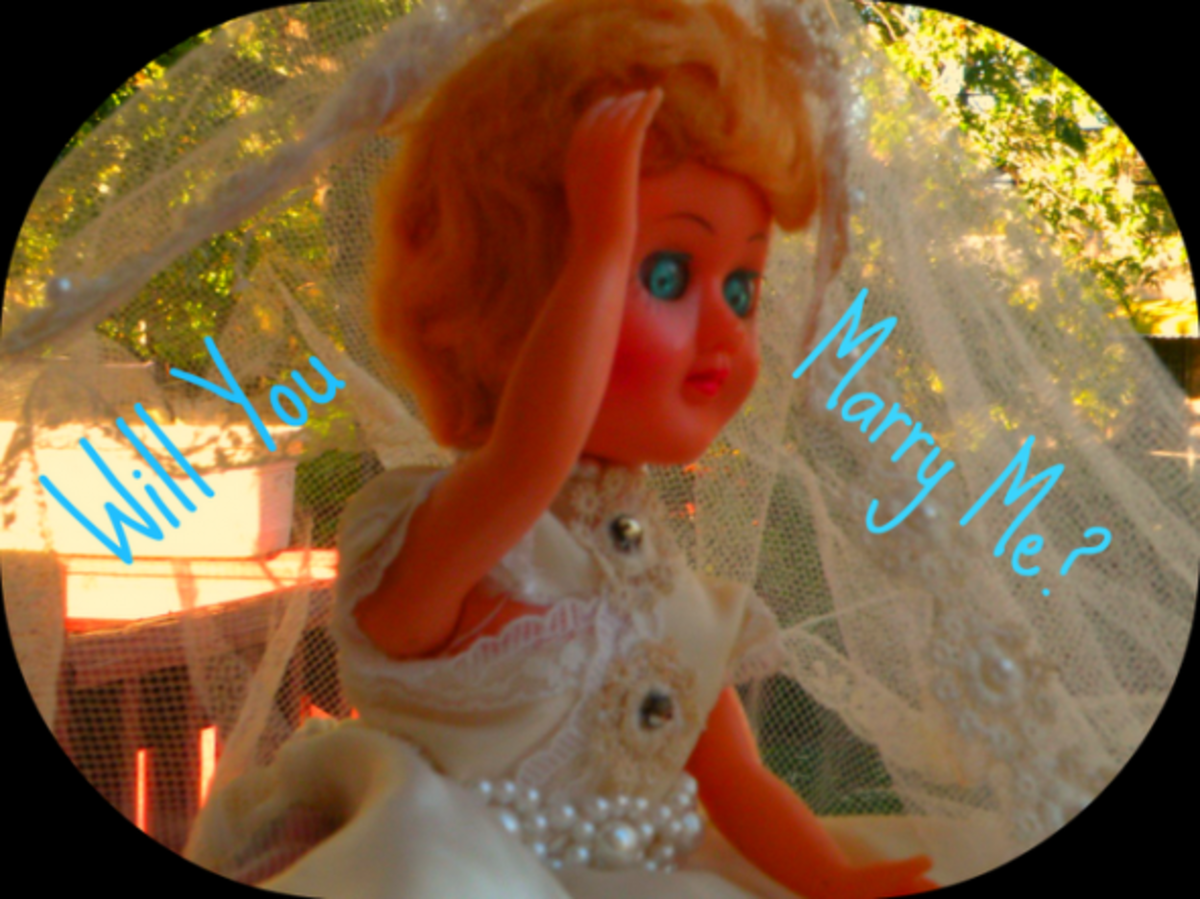 This vintage doll isn't the only thing needing a marriage. Perhaps your etsy shop does too.