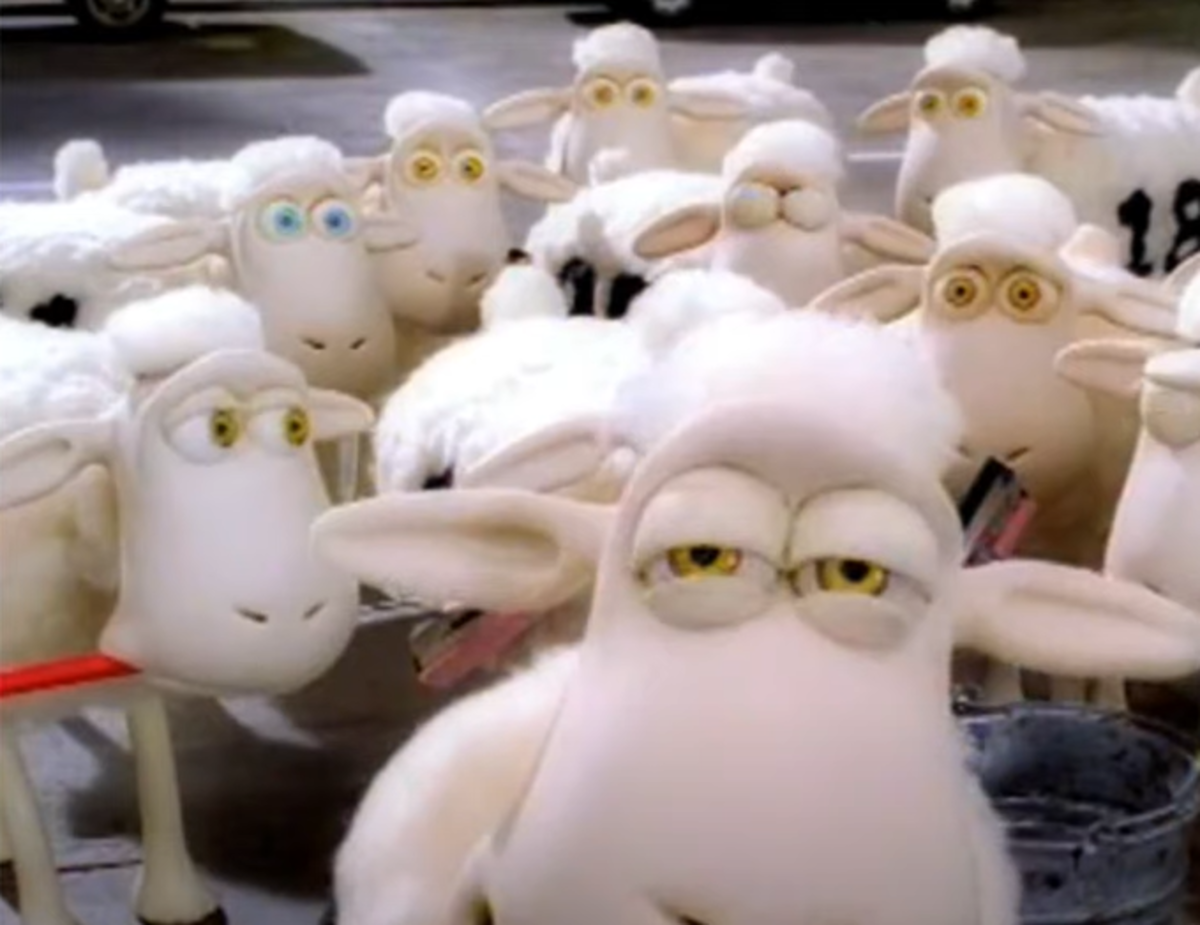 Screenshot of the infamous Serta Counting Sheep!