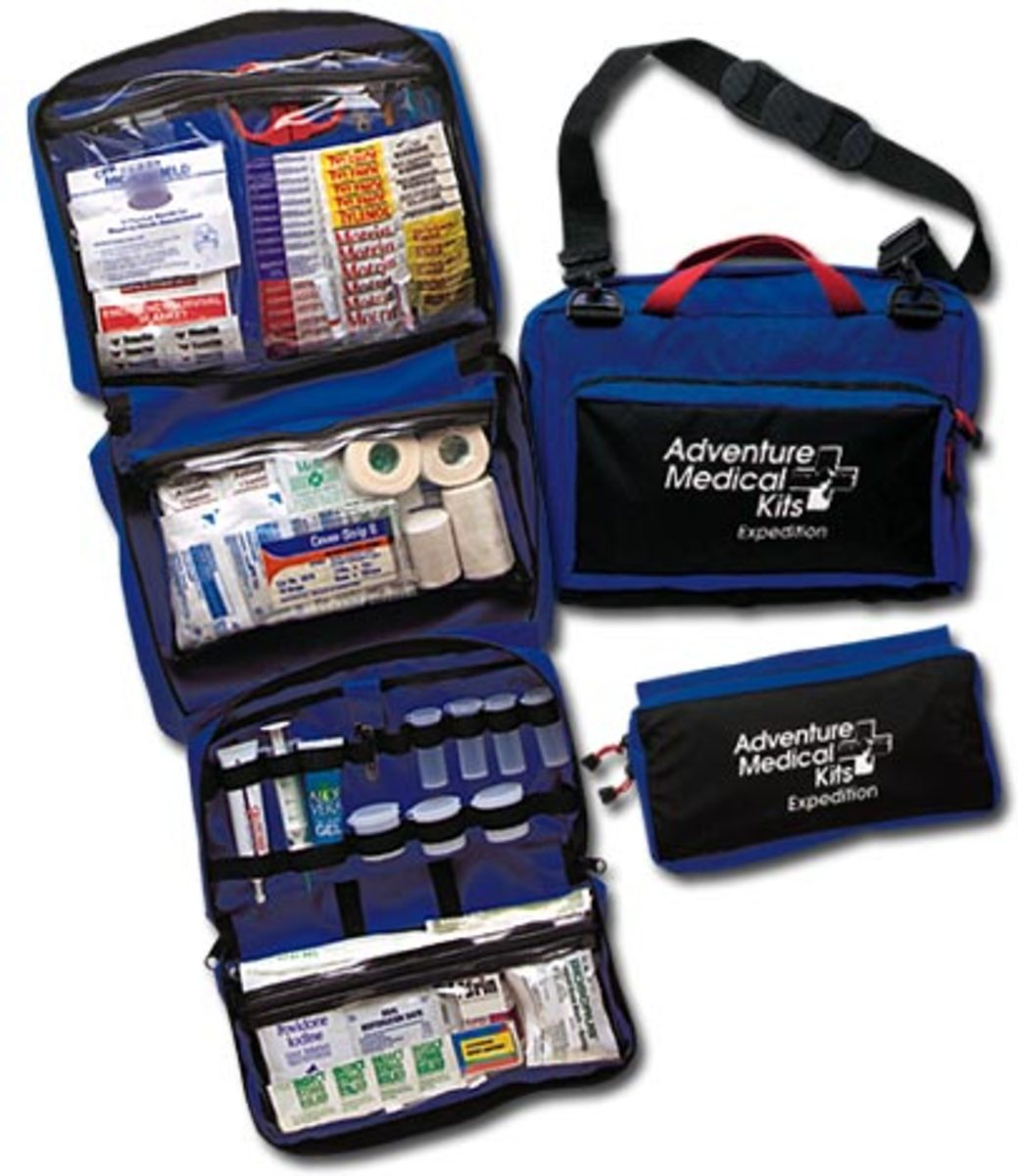 A first aid kit like the one above is essential in tsunamis