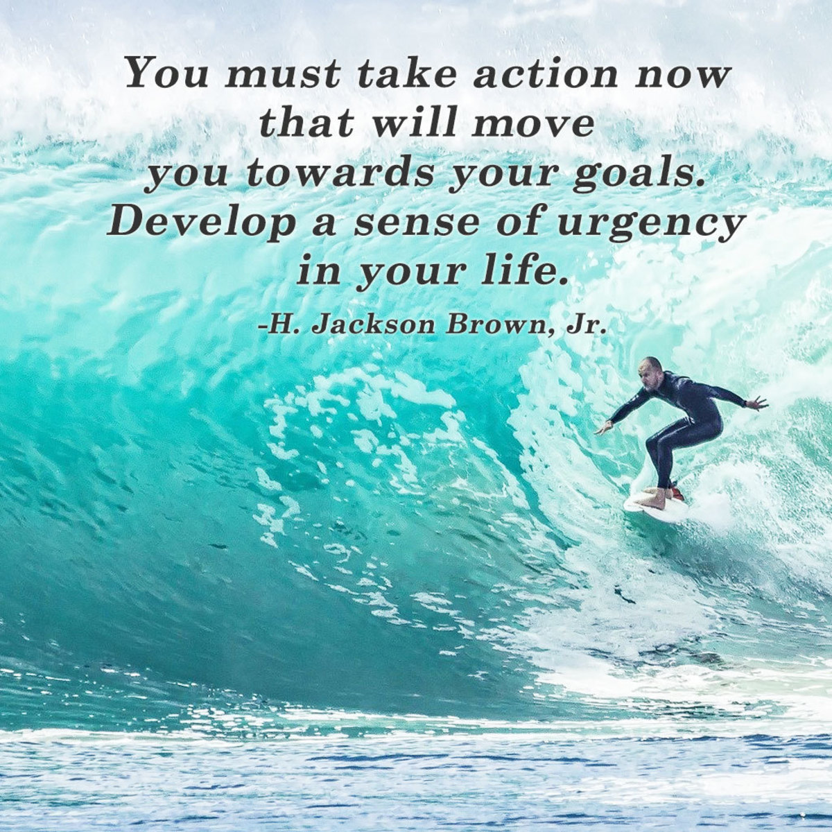 """""""You must take action now that will move you towards your goals. Develop a sense of urgency in your life."""" ― H. Jackson Brown, Jr."""