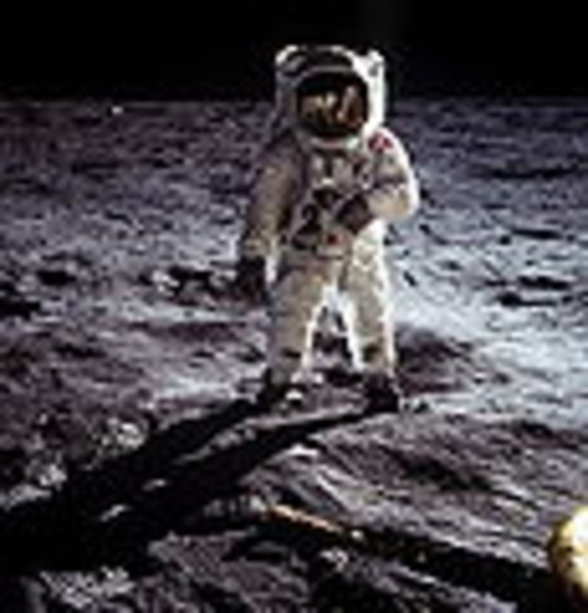 Buzz Aldrin on the Sea of Tranquility, not a soundstage!