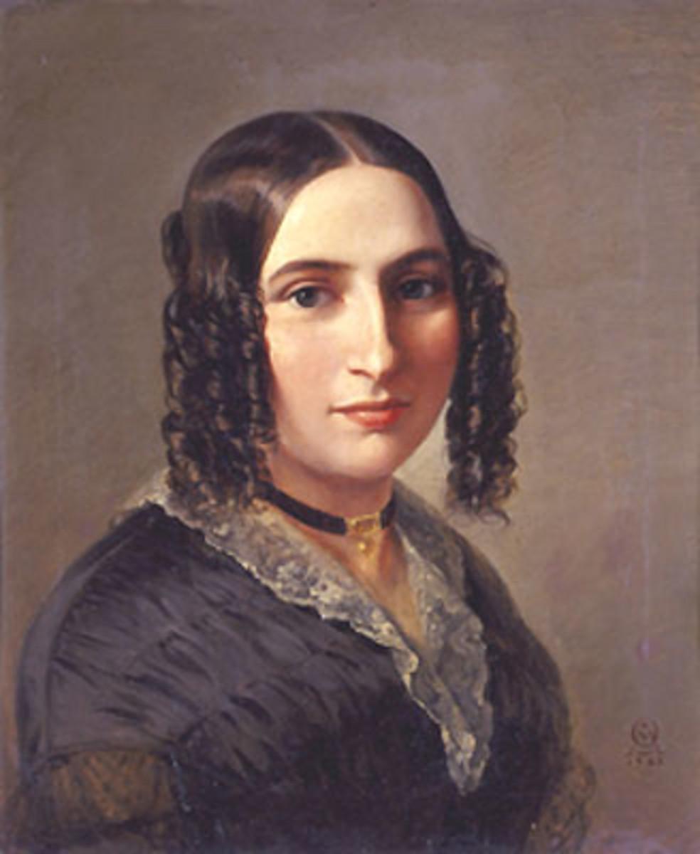 Painting of Fanny Mendelssohn Hensel