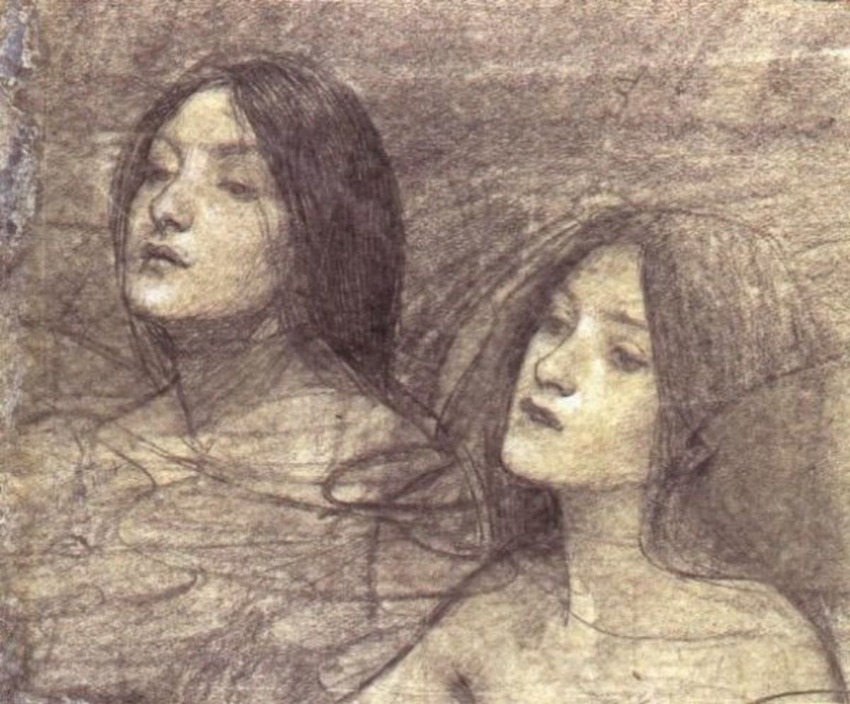 'Phyllas and the Nymphs' study