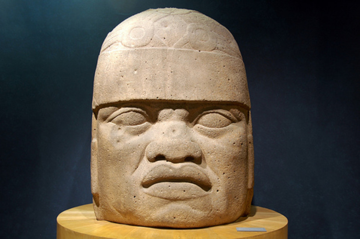 Olmec Head- Mexico with African features