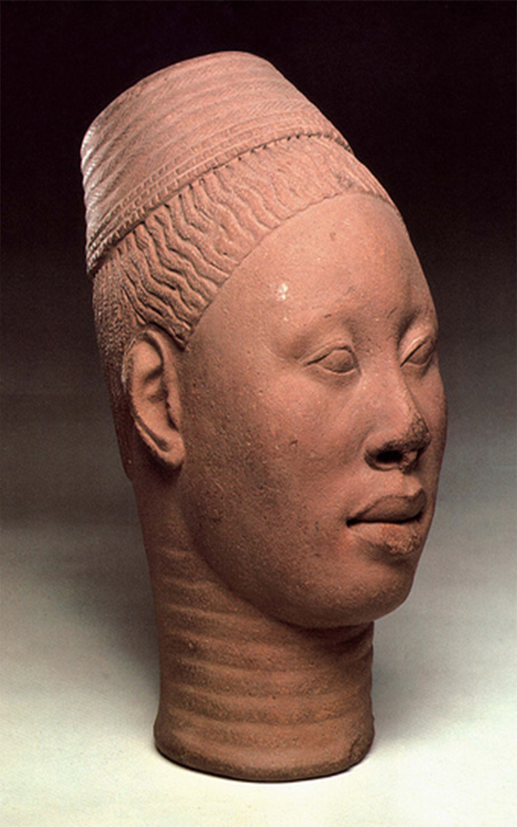 "The Ife civilization, existed as early as 1000 B.C., in what is now identified as Nigeria. The culture represents some of the earliest ""evidence"" of farming and iron smelting in Nigeria. Archaeologists have determined that most of the life size terra"