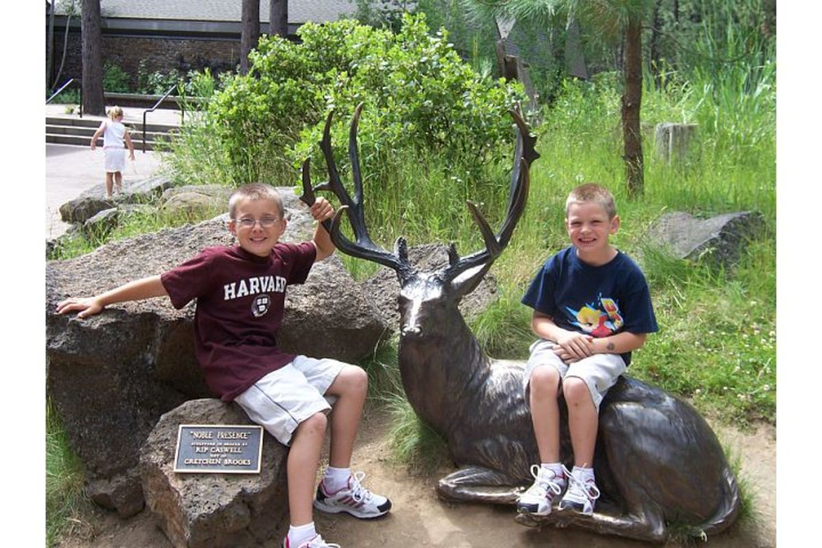 Outdoor sculptures make great photo opportunities at the High Desert Museum (c) Stephanie Hicks