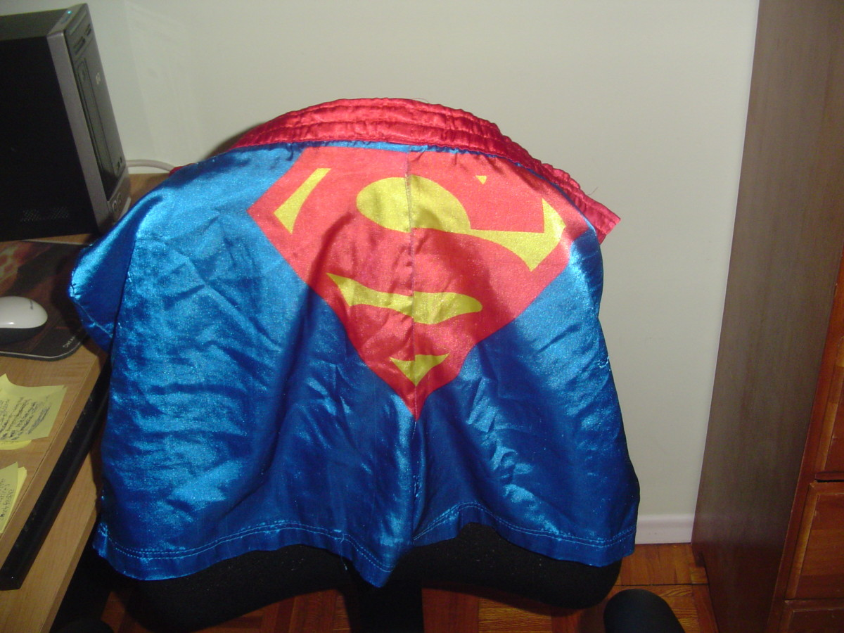 A photo of my Superman boxer shorts. Sadly they do not give me superpowers.
