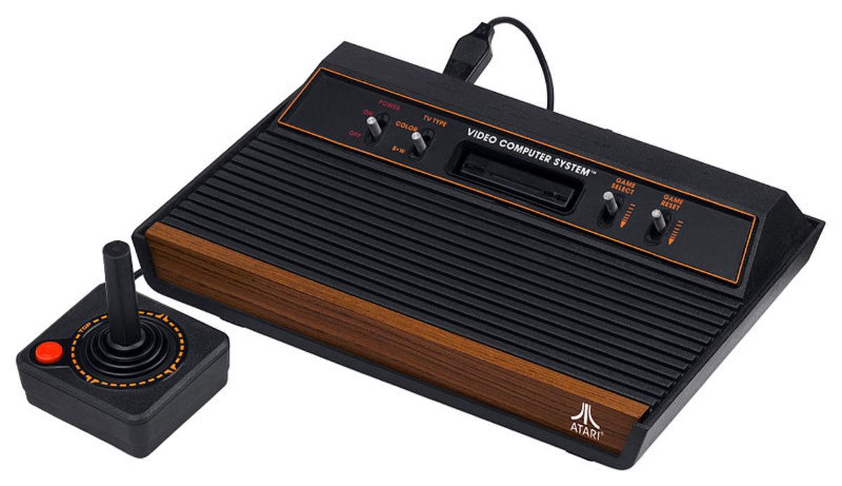 The old classic Atari 2600 game console.
