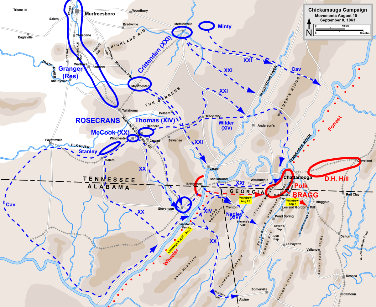 Chickamauga Campaign August 15th - September 8th, 1863