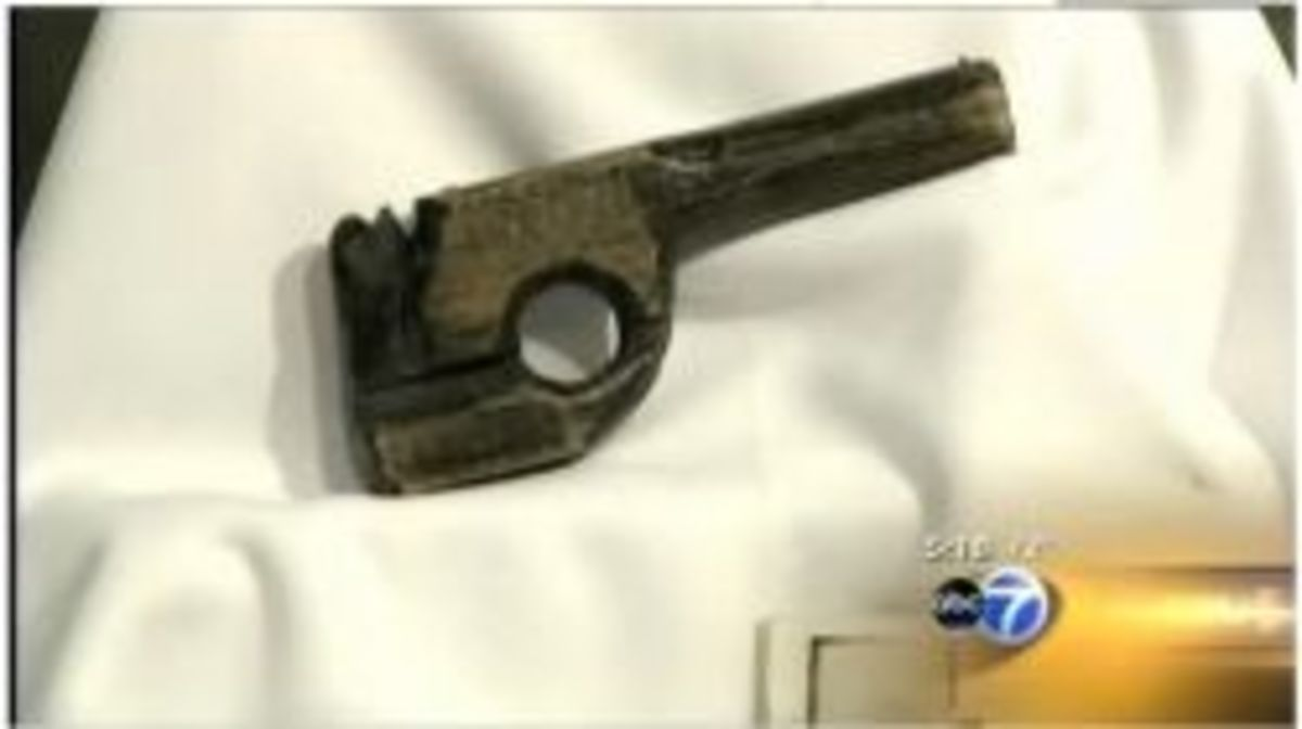 Wooden gun carved by Dillinger to facilitate his break from Lake County Jail in Crown Point, IN