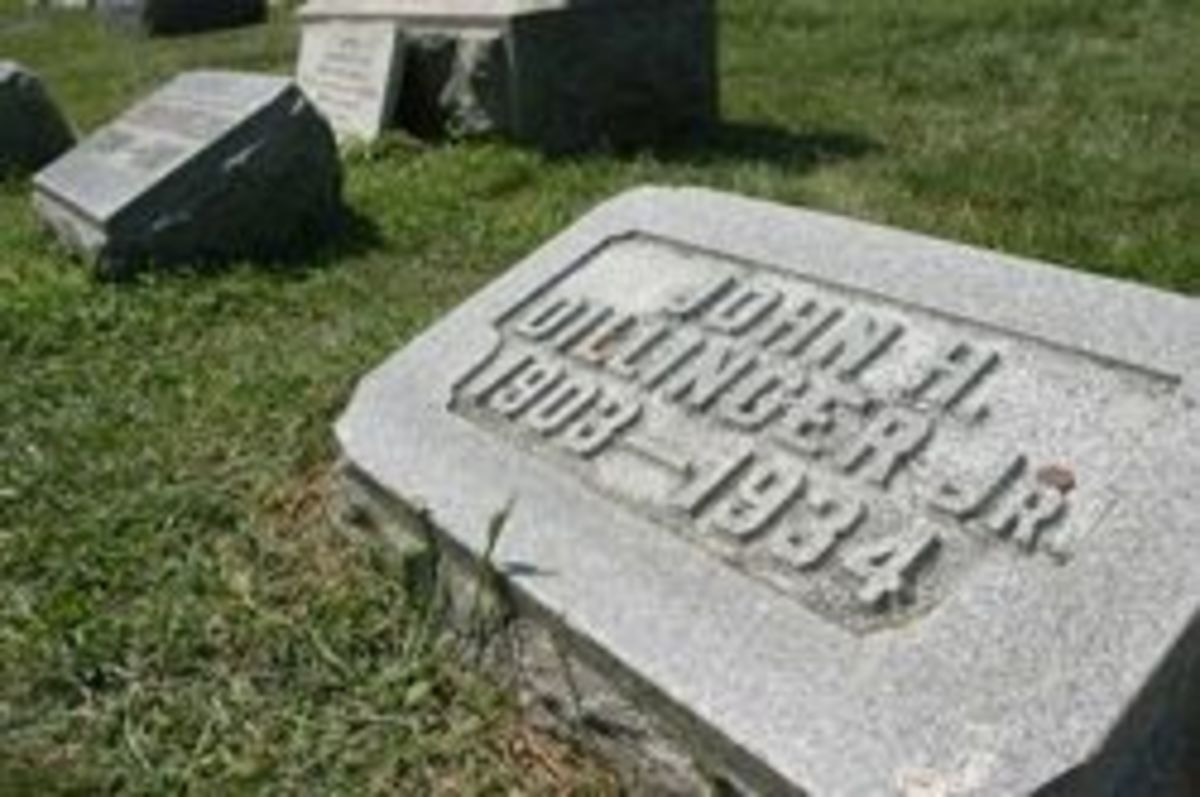 John Dillinger's Grave at Crown Point Cemetary, Indianapolis, IN